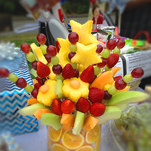 How To Make An Edible Fresh Fruit Bouquet