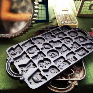 Make your own letter chocolate  cookie mold!! fleamarket bake
