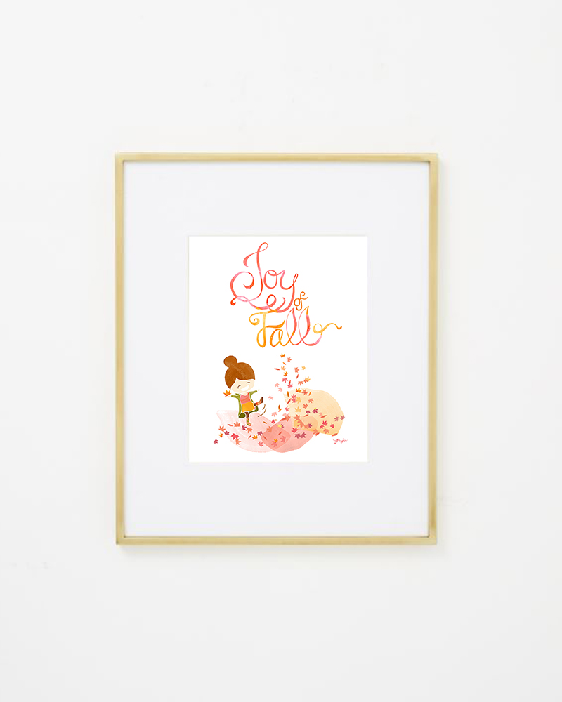 Juju Sprinkles Joy of Fall Frame Brass