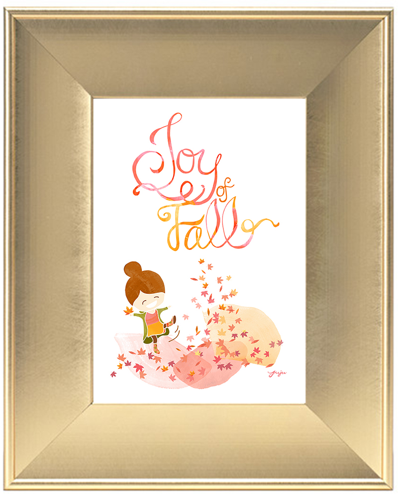 Juju Sprinkles Joy of Fall Frame Scoop