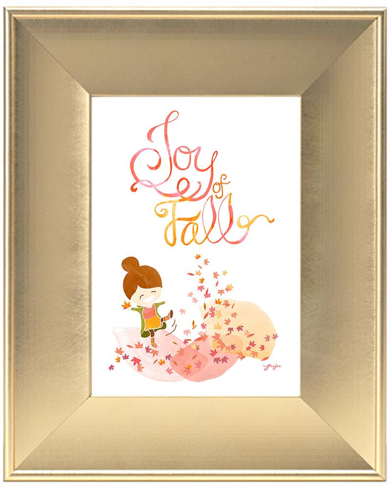 Juju Sprinkles Joy of Fall Frame Scoop