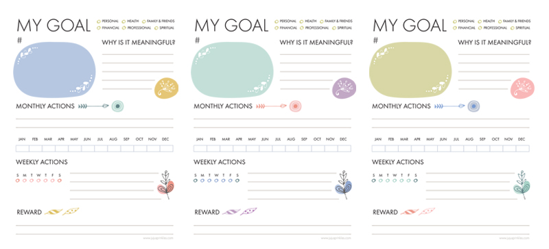 Juju Sprinkles Goal Planning Set