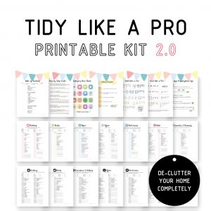 Tidy Like A Pro Printable Kit 2.0