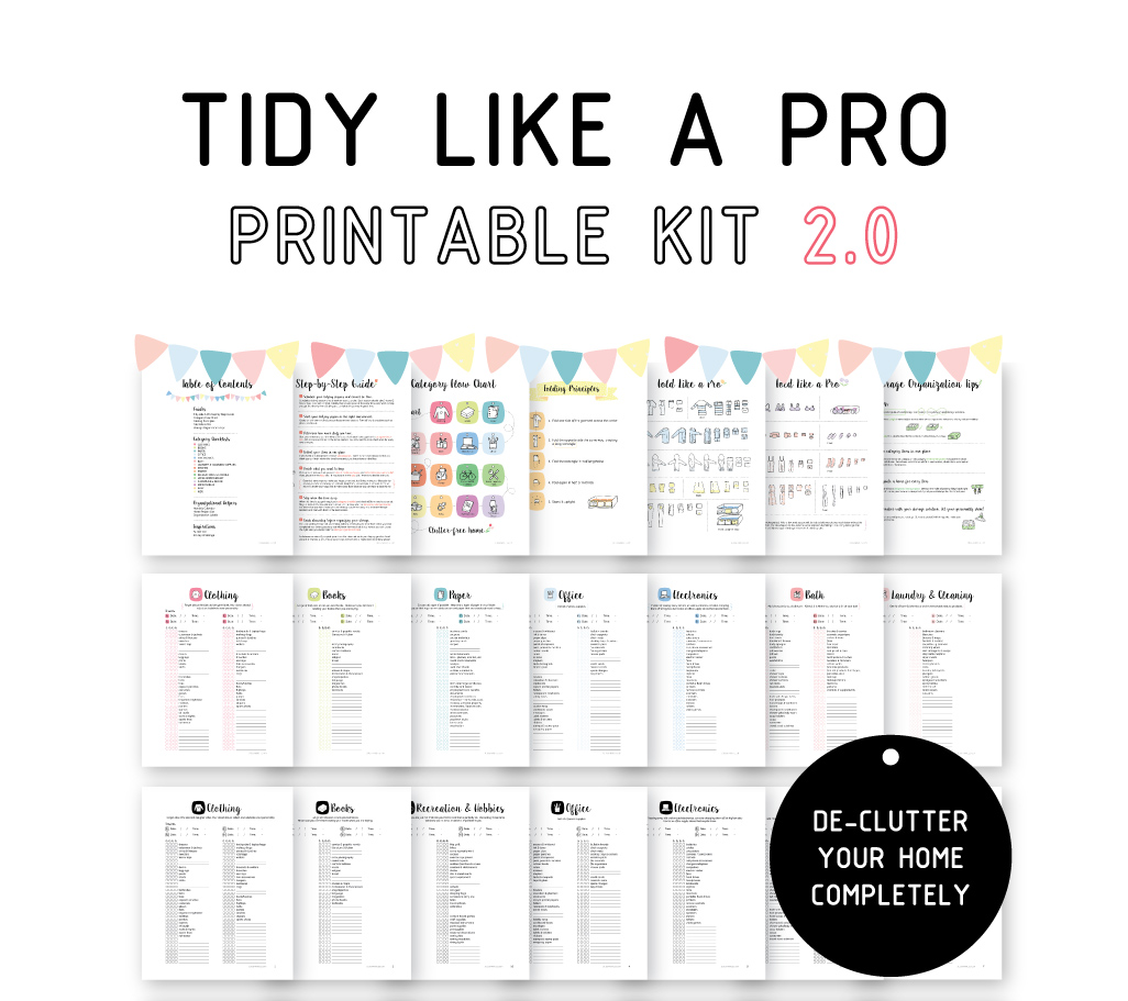 Tidy Like A Pro – Exclusive Offer – Juju Sprinkles
