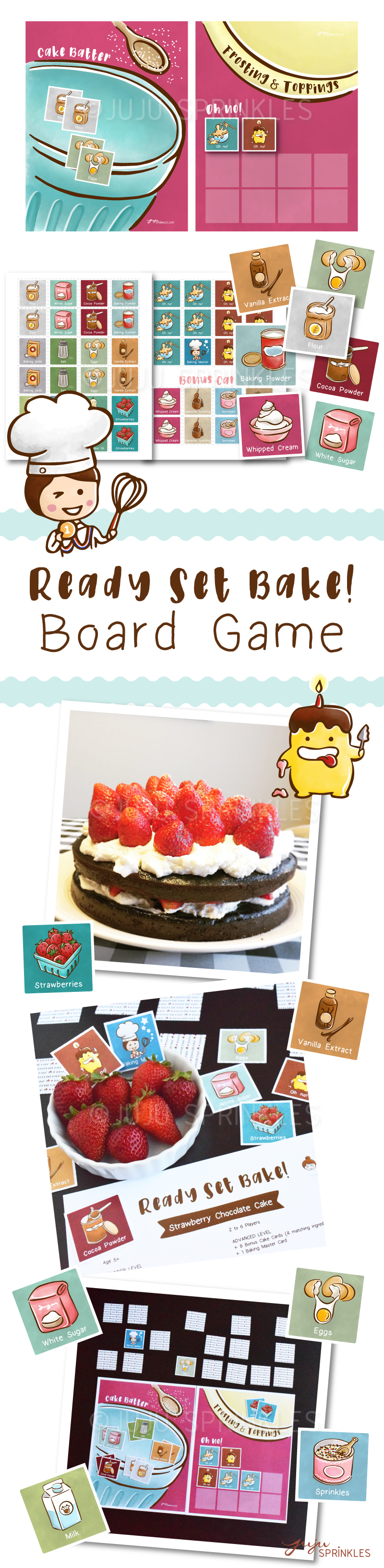 The Great Bake Off Board Game Style Juju Sprinkles