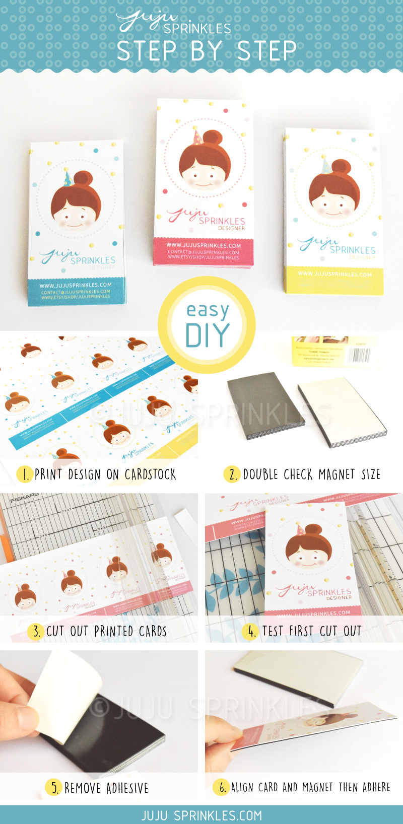 DIY Business Card Magnets – Juju Sprinkles