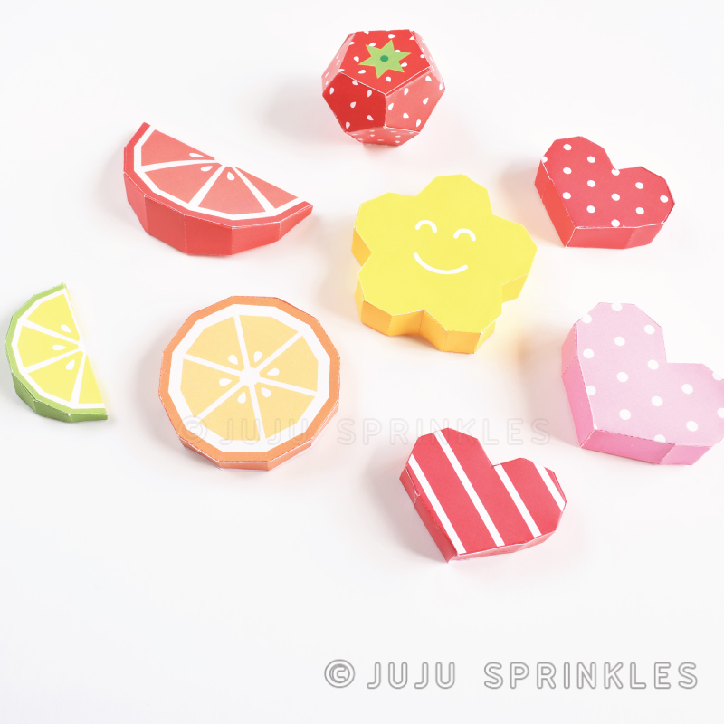 how to make fruits from paper