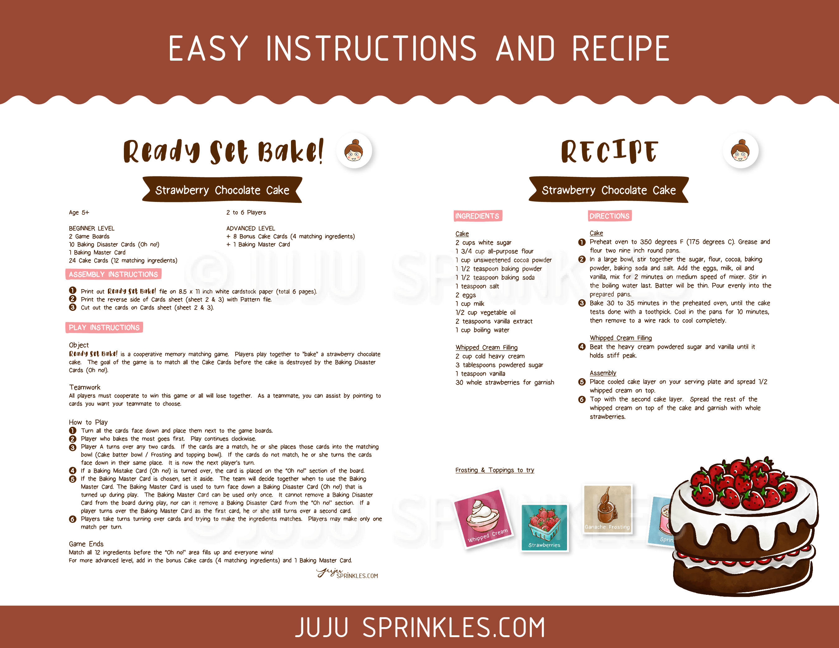 Sprinkle Cake Recipe Joy Of Baking: Printable Baking Memory Game