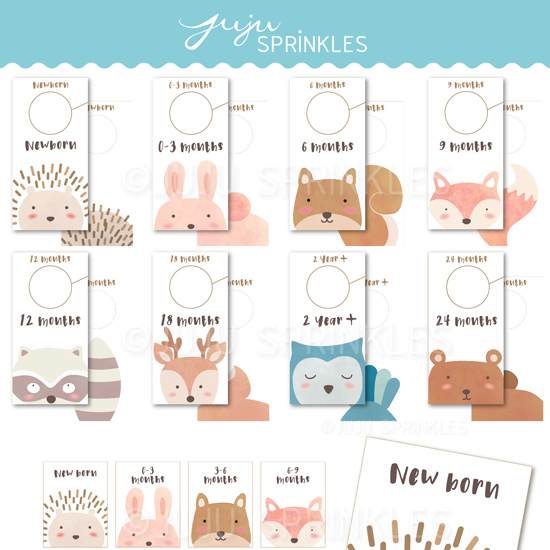 photograph about Free Printable Closet Dividers referred to as Woodland Animal Little one Closet Dividers and Labels Printable
