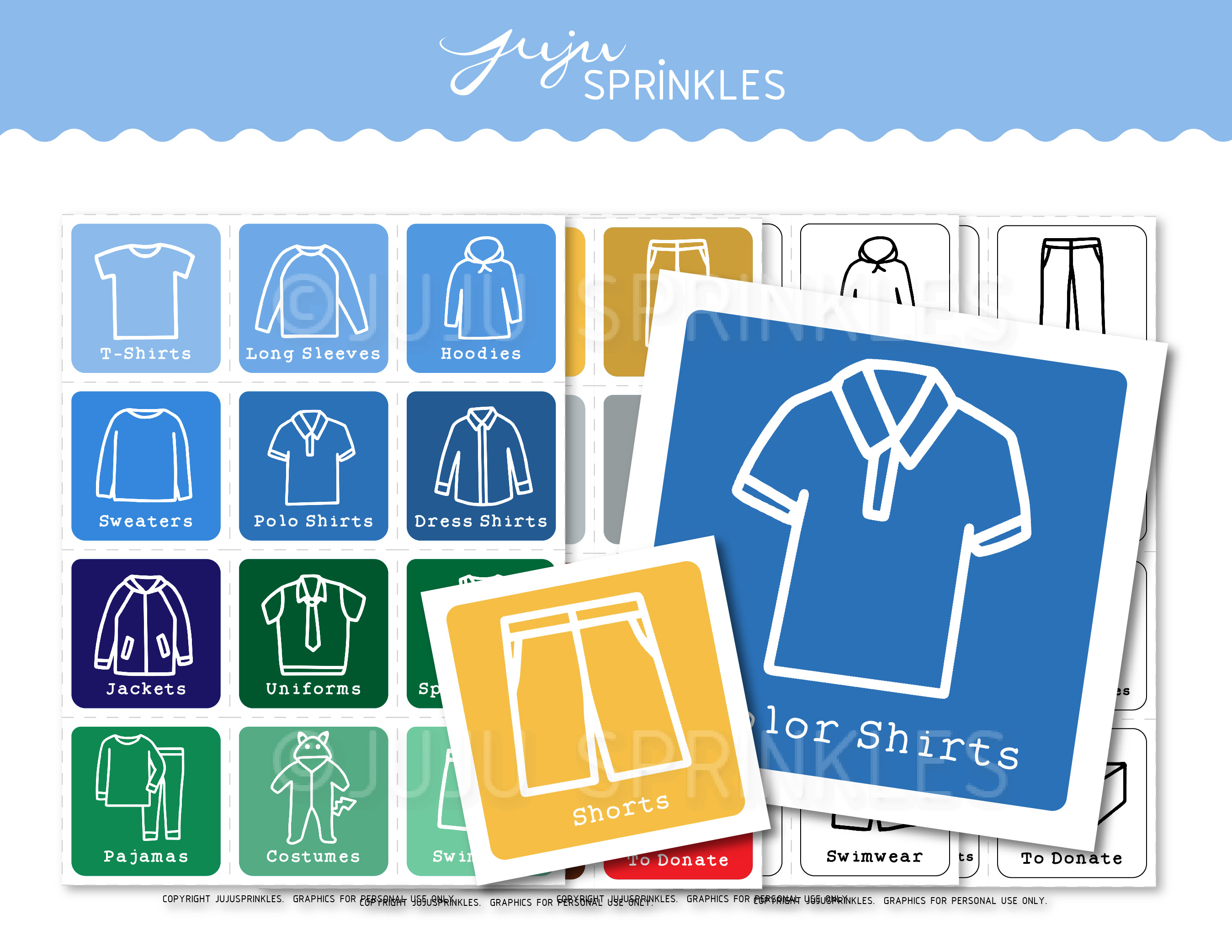 photo relating to Printable Clothing Labels known as Small children Closet Organizational Labels Printable - Boys